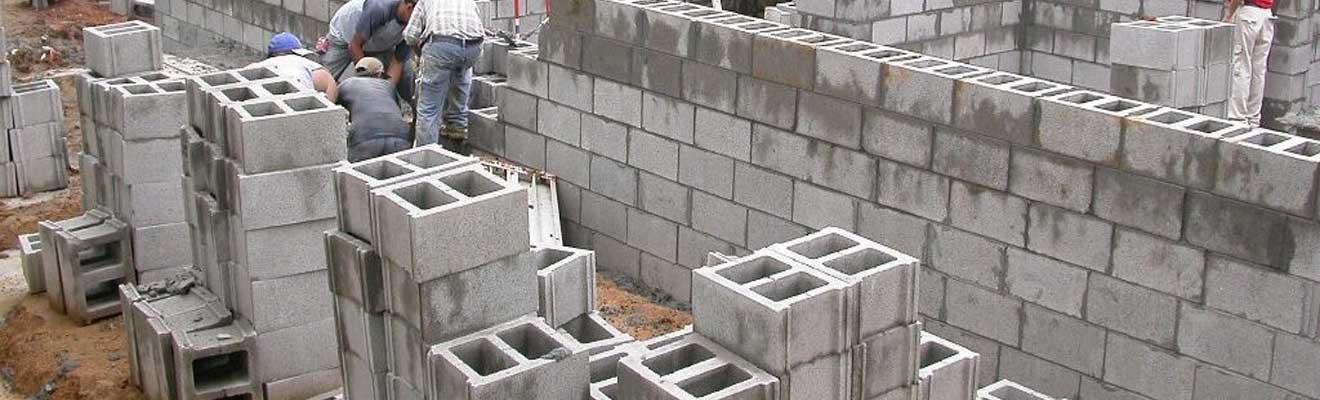 Стена из шлакоблока