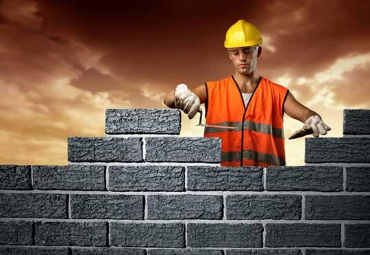 Кладочные работы в строительстве