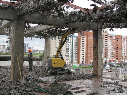 Механизированный демонтаж перекрытий зданий и сооружений