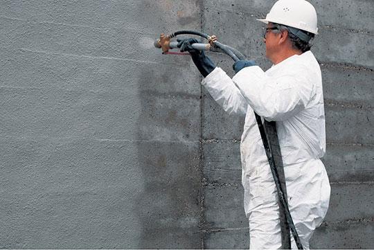 Нанесение гидроизоляции для бетона