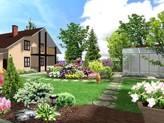 Проектирование территории садов и участков
