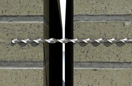 Ремонт кирпичных стен спиральным анкером