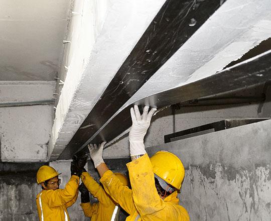 Укрепление перекрытий зданий и сооружений