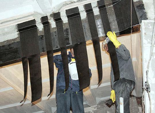 Усиление углеволокном бетонных конструкций